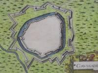 image of Hand Colored 1636 Print, Map of Caussade, from 'Les plans et profils de toutes les principales villes et lieux considerables de France