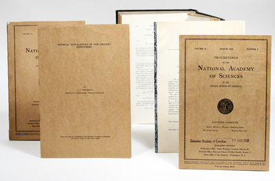 Easton, PA and Washington, DC: Proceedings of the National Academy of Science, 1932. First edition. ...