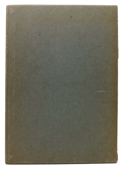 Cambridge: The Society of Printers, 1955. 1st edition. Quarter-bound teal illustrated paper wrapped ...