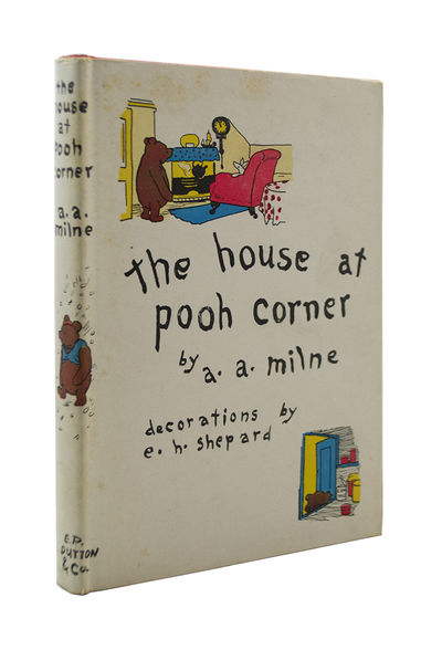 First American Trade Edition, In Dust Jacket MILNE, A.A.. SHEPARD, Ernest H., . The House at Pooh Co...
