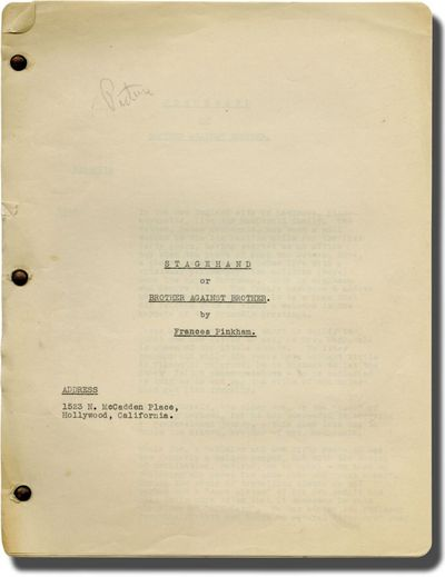N.p.: N.p., 1940. Treatment script for an unproduced film. Two brothers with a patchy relationship b...