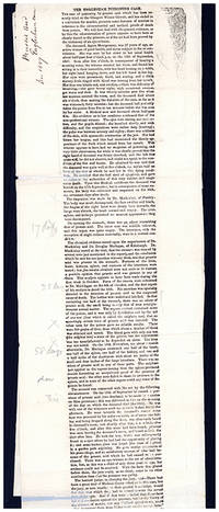 The Englesham [sic] poisoning case. Galley proofs, with pencil corrections