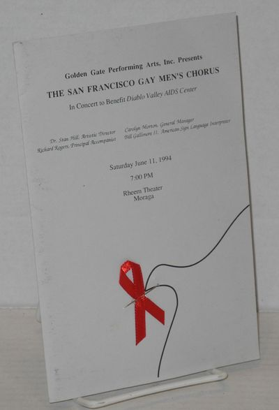 San Francisco: Golden Gate Performing Arts, Inc, 1994. 4-panel program, 5.5x8.5 inches, heavy gray s...