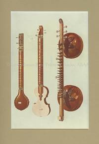 Sitars and Vina. Original Chromolithograph. Musical Instruments; Historic, Rare and Unique