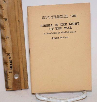 Girard: Haldeman-Julius Publications, 1943. 32p., 3.5 x 5 inch wraps, very good. Little blue book no...