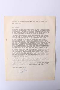 ALS [Autograph Letter Signed] to Jannick Storm