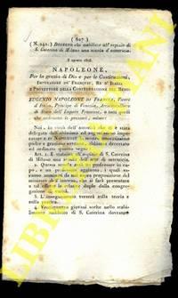 Decreto che stabilisce all\'ospizio di S.Caterina di Milano una scuola ostericia.