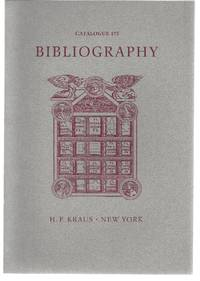 Catalogue 175: Bibliography, Part 1: Antiquarian Bibliography before 1850. Part II: Catalogues: Private Libraries, Auctions, Booksellers. Part III: General Bibliography.