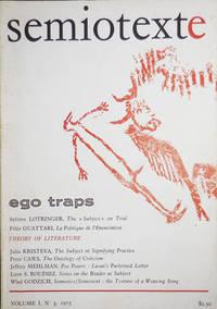 Semiotexte Volume I No. 3 Ego Traps
