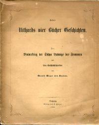 Ueber Nithards vier Bücher Geschichten.
