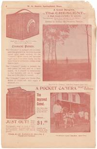 Vintage Advertisement for Cameras a Page from a W. G. Baker Premium Catalog