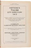 View Image 1 of 2 for HOFFHINE'S TULSA CITY DIRECTORY 1912 Inventory #WRCAM55349