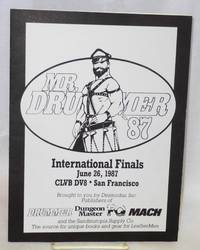 Mr. Drummer international finals 1987 June 26, 1987 Clvb Dv8 brought to you by Desmodus