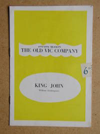 King John By William Shakespeare. Theatre Programme.