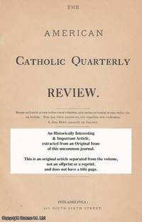 A National Catholic Library. A rare original article from the American Catholic Quarterly Review,...