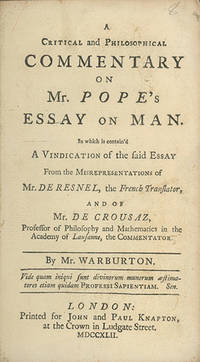 London: Printed for John and Paul Knapton, 1742, 1742. First edition. ESTC T132396; NCBEL II, 1870. ...