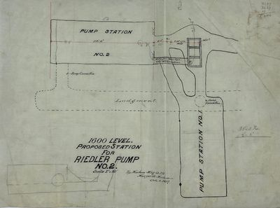 Marysville, MT: The Montana Mining Company Limited, 1897. Map in black, and red ink. This map shows ...