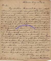 Andrew Jackson Handwrites A Letter About His Nephew, Andrew Jackson Donelson