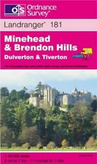image of Minehead and Brendon Hills, Dulverton and Tiverton (Landranger Maps)
