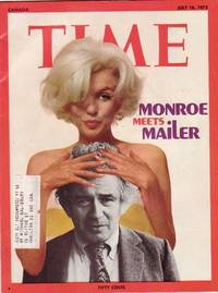"""Time Magazine July 16, 1973 ...""""Marilyn Monroe:  New Book by Norman Mailer"""" on Cover, Jules Olitski, Arafat, Fin Whales, RCMP at 100. Canadian Edition"""