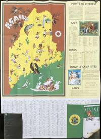 Maine. 1954 Official Highway Map.