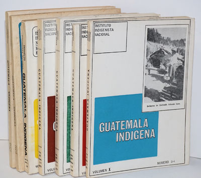 Guatemala: Instituto Indigenista Nacional, 1975. Seven double issues of the journal (vol. x no. 3/4,...