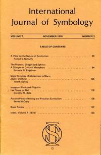image of International Journal of Symbology -- Volume 7, 1976 No. 3