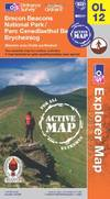 image of Brecon Beacons National Park - Western & Central Areas (OS Explorer Map Active)