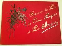 SOUVENIR DU LAC DE COMO, LUGANO ET LAC MAJEUR LARGE VIEW BOOK WITH MOUNTED COLOR PHOTOGRAPHS