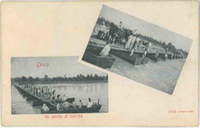 Genio un ponte di barche by from libreria piani gi for Piani di ponte ottagonale
