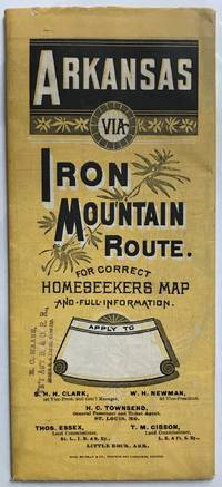 Arkansas Via Iron Mountain Route [cover title]