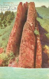 Devil's Slide, Utah 1907 used Postcard