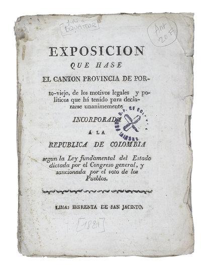 Exposicion que hase [sic] el Canton...