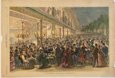 New York: Harper's Weekly, 1869. unbound. View. Hand colored wood engraving. Image measures 10 3/4