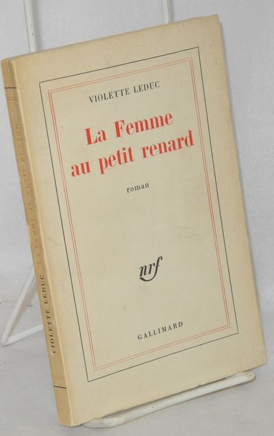 Paris: Gallimard, 1965. Paperback. 120p., text in French, previous owner's signature, first edition,...