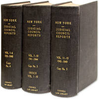 First Report of The Judicial Council of The State of New York. 3 Vols by State of New York  - 1935  - from The Lawbook Exchange Ltd (SKU: 49660)