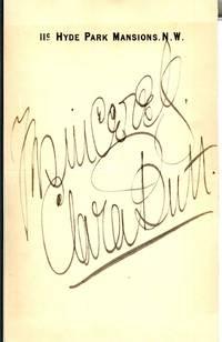"Fine signature ""Yrs sincerely Clara Butt"", (Dame Clara Ellen, 1873-1936, Contralto)"