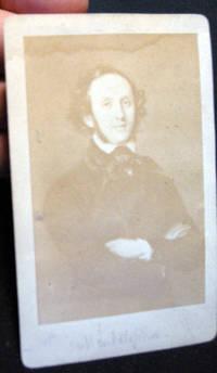 Carte De Visite Portrait Of Felix Mendelssohn By