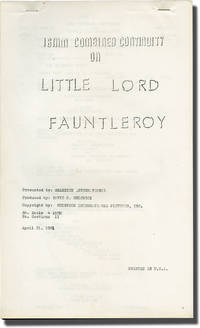 image of Little Lord Fauntleroy (Post-production script for the 1961 re-release of the 1936 film)