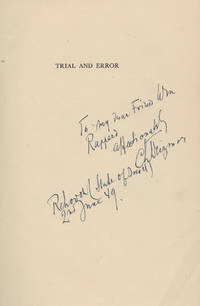 Chaim Weizmann Signs & Inscribes Autobiography,