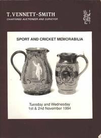 Sport and Cricket Memorabilia.  Tuseday and Wednesday 1st & 2nd November 1994