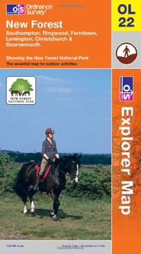 image of New Forest, Southampton, Ringwood, Ferndown, Lymington, Christchurch and Bournemouth: Southampton, Ringwood, Ferndown, Lymington, Christchurch & New Forest National park (OS Explorer Map)