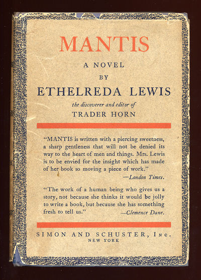 New York: Simon & Schuster, 1929. Hardcover. Very Good/Very Good. First edition. Spine lettering a b...