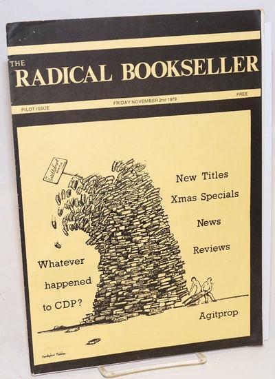 Hebden Bridge: Ad Hoc Committee for Radical Bookseller, 1979. 15p., wraps, 8.25x11.75 inches; staple...