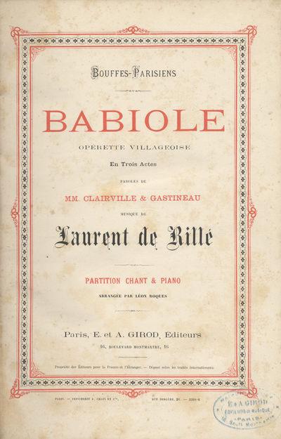 Paris: E. et A. Girod , 1878. Large octavo. Quarter dark blue cloth with dark blue textured paper bo...