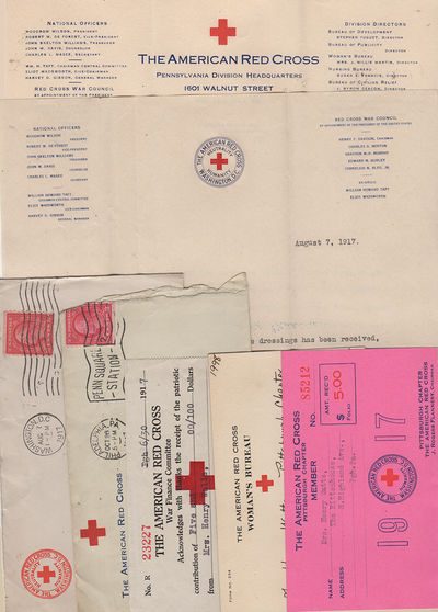 Philadelphia, Pittsburgh, and Washington, DC: American Red Cross, 1918. Various. Very good. This arc...
