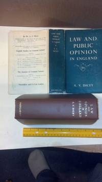 Lectures on the Relation between Law & Public Opinion in England During the Nine