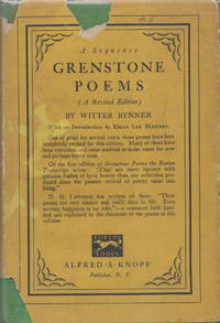 GRENSTONE POEMS: A Sequence. by  Witter Bynner - Signed First Edition - 1926 - from Bookfever.com, IOBA and Biblio.com
