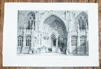 """Disbound Engraving of """"Entrance to Lincoln Cathedral"""