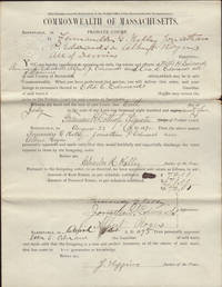 Documents Legal (Guardian's Inventory): Commonwealth of Massachusetts, Barnstable ss., Probate Court. by  Alfred J. and Ora B. (all of Dennis)  Sherman L. - Signed First Edition - from OLD WORKING BOOKS & Bindery (Est. 1994) and Biblio.co.uk
